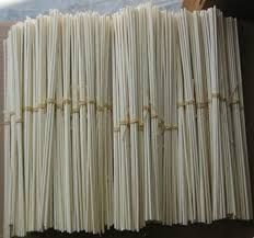 "Top Quality Natural Rattan Reeds 3mm x 30cm (11¾"" Long) Pack of 8 reeds"
